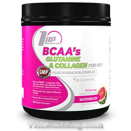1 UP Nutrition BCAA's Glutamine and Collagen for Her larger image