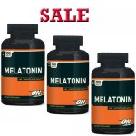 Optimum Nutrition Melatonin, 100 Tablets-3 Bottle- Sale